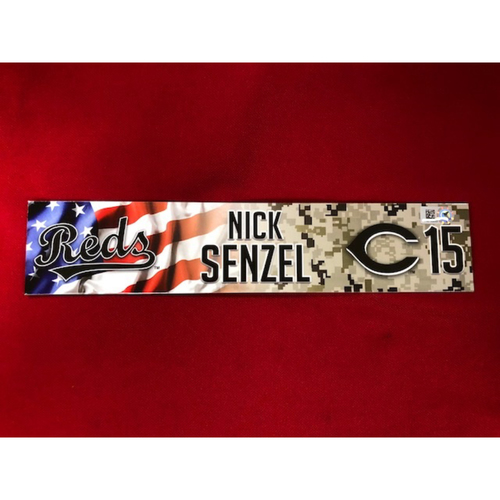 Photo of Nick Senzel - Team Issued - Military Appreciation Locker Tag (2018)