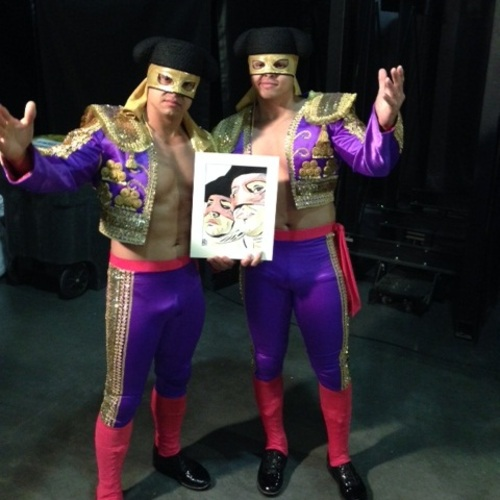 Los Matadores Signed Painting by Rob Schamberger