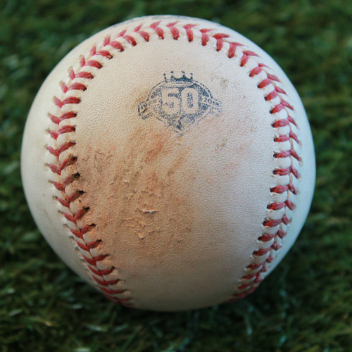 Photo of Game-Used Baseball: Joey Rickard 168th Career Hit (BAL @ KC - 9/2/18)