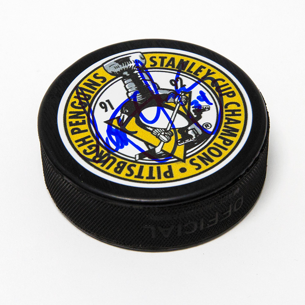 Scott Young Pittsburgh Penguins Autographed Stanley Cup Champions Puck