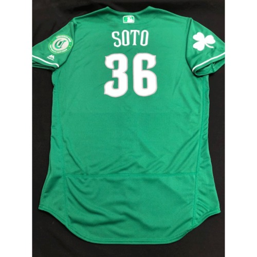 Photo of Mario Soto -- Team-Issued Jersey -- 2019 St. Patrick's Day
