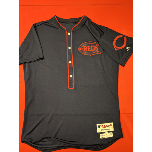 Photo of Luis Castillo -- Game-Used Jersey -- 1911 Throwback worn 5/5/19 (Starting Pitcher, 7.0 IP, 9 SO, 4 ER) -- Jersey Size - 46