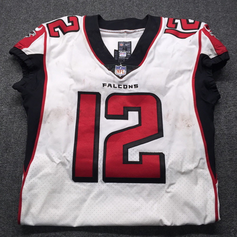 NFL Auction | STS - Falcons Mohamed Sanu Game Used Jersey Size 42 ...