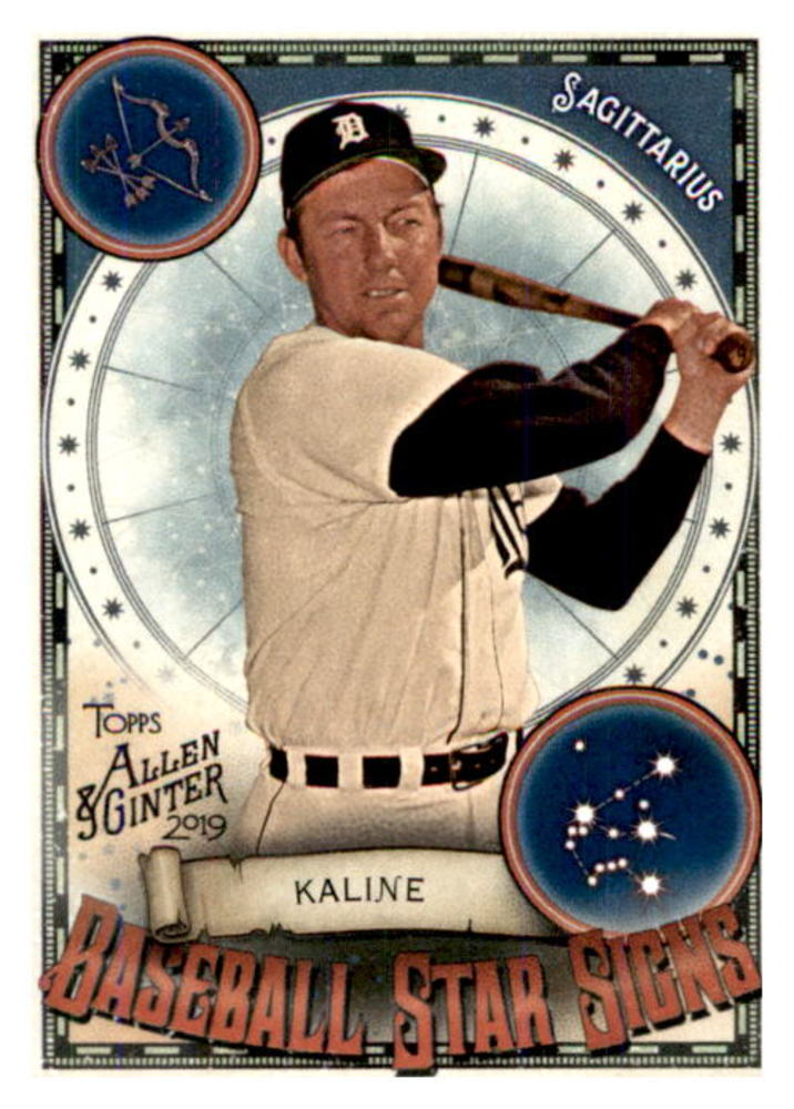 2019 Topps Allen and Ginter Baseball Star Signs #BSS10 Al Kaline