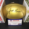 PCF - Browns Jim Brown Signed Commemorative Gold NFL 100th Season Football