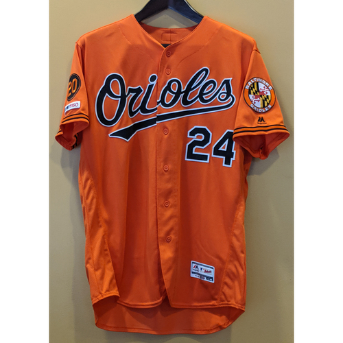 Photo of DJ Stewart - Orange Alternate Jersey: Game-Used (2-Run HR)