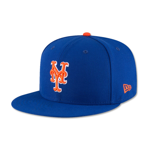 J.D. Davis #28 - Alonso Ties Single Season Rookie Home Run Record - Game Used Blue Alt. Home Hat - 2-4, HR (21), 2 RBI's and 1 Run Scored - Mets vs. Braves - 9/27/19