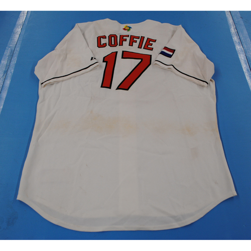 Photo of 2006 Inaugural World Baseball Classic: Ivanon Coffie Game-worn Team Netherlands Home Jersey