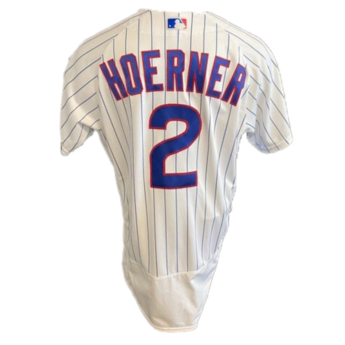 Photo of Nico Hoerner Team-Issued Jersey -- Padres vs. Cubs -- 6/2/21 -- Features ALS Patch -- Size 44