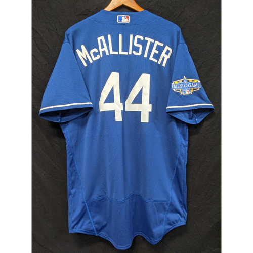 Photo of Zach McAllister Team-Issued 2020 Spring Training Jersey with 2020 All Star Patch