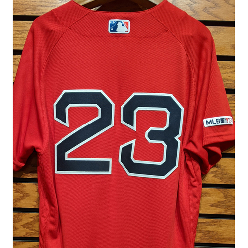 Photo of Michael Chavis #23 Team Issued Red Home Alternate Jersey