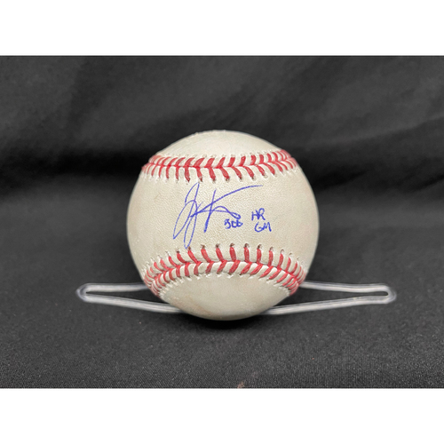 Photo of Joey Votto *Game-Used, Autographed & Inscribed* Baseball from 300th Career HR Game - Wade Miley to Anthony Rizzo (Ground Out); to Javier Baez (Foul) -- 04/30/2021 - CHC vs. CIN - Top 1
