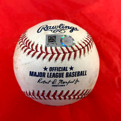 Photo of Francisco Lindor Game-Used Triple vs. Joe Mantiply - Mets @ D-backs 6/1/2021