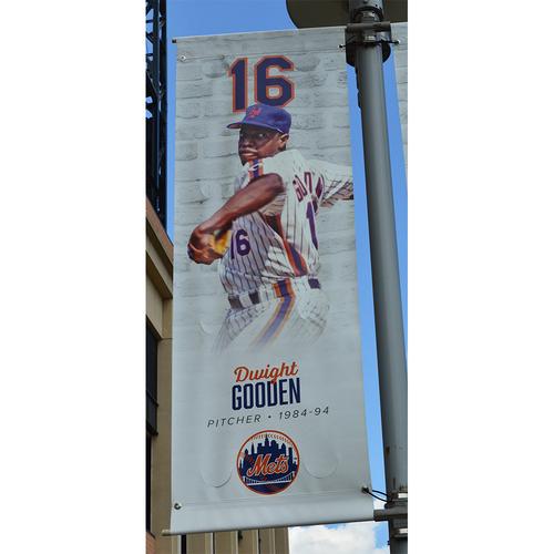 Photo of Dwight Gooden #16 - Citi Field Banner - 2018 Season