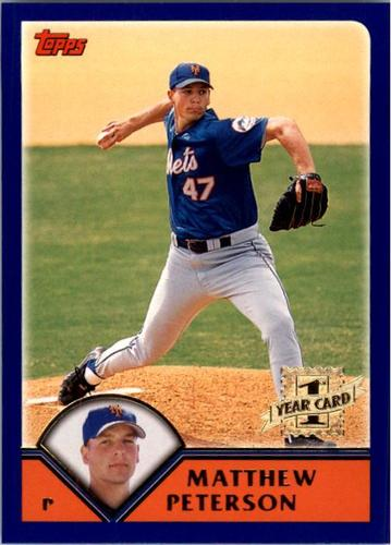 Photo of 2003 Topps #301 Matthew Peterson FY RC