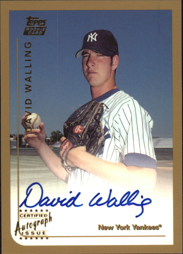 Photo of 1999 Topps Traded Autographs #T71 David Walling