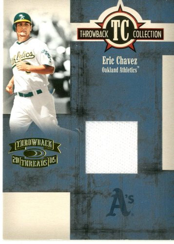 Photo of 2005 Throwback Threads Throwback Collection Material #57 Eric Chavez Jsy/500