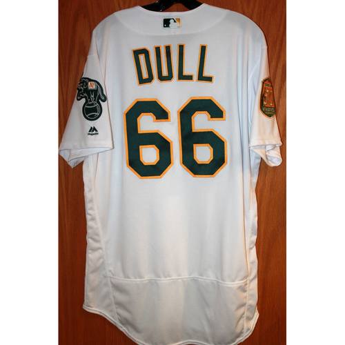 Photo of Ryan Dull Game-Used Jersey (Sean Manaea's No-Hitter Game vs BOS 4/21/18)
