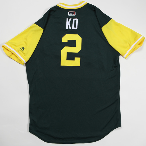 "Photo of Khris ""KD"" Davis Oakland Athletics Game-Used Jersey 2018 Players' Weekend Jersey"