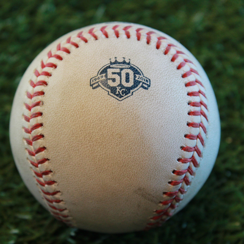 Photo of Game-Used Baseball: Mike Wright Pitched Strikeout to Brett Phillips (BAL @ KC - 9/2/18)