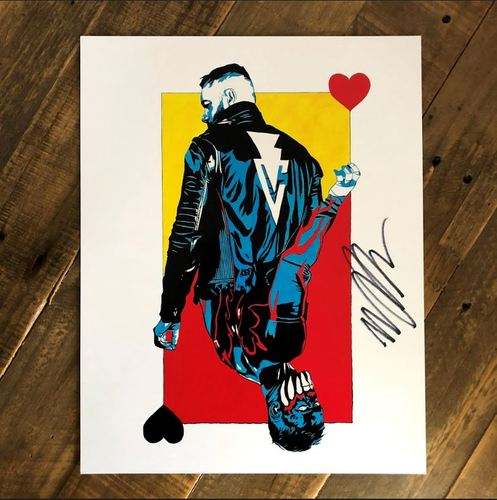 Photo of Finn Bálor SIGNED 11 x 14 Rob Schamberger Print
