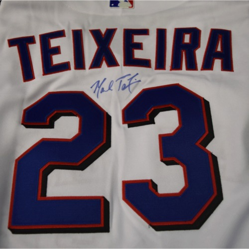 Photo of Rays Baseball Foundation Auction: Mark Teixeira Autographed Jersey  - Size 50