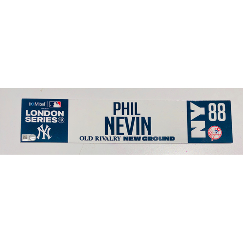 Photo of 2019 London Series - Game Used Locker Tag - Phil Nevin, New York Yankees vs Boston Red Sox - 6/30/2019