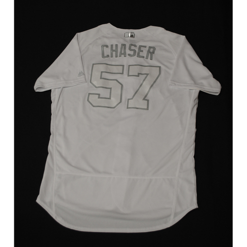 "Photo of Chase ""CHASER"" Anderson Milwaukee Brewers Game-Used 2019 Players' Weekend Jersey"