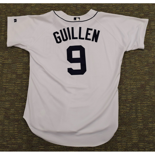 Photo of Carlos Guillen Clubhouse Issued Detroit Tigers #9 Home Jersey (NOT MLB AUTHENTICATED)