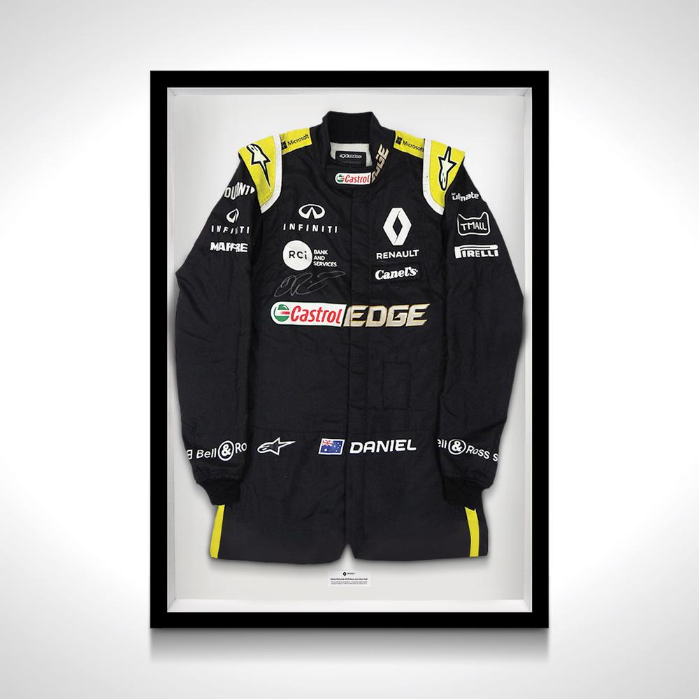 Daniel Ricciardo 2019 Renault F1 Framed Worn Canadian Grand Prix Signed Race Suit