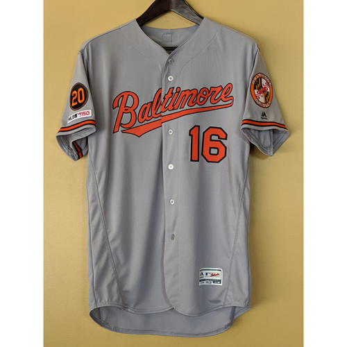 Photo of Trey Mancini - 2019 Road Jersey: Team-Issued