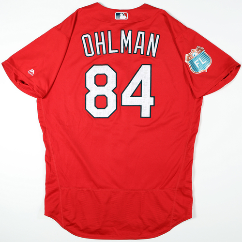 Photo of 2016 Spring Training - Spring Training Game Used Jersey - Mike Ohlman (Cardinals)- Size- 48