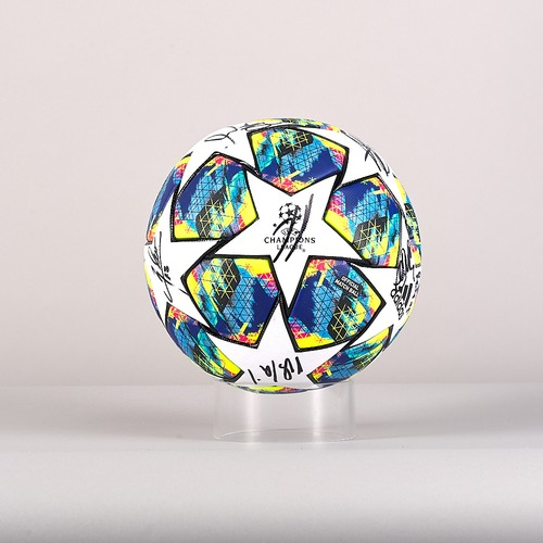 Photo of A 19/20 Champions League ball signed by the Borussia Dortmund Team