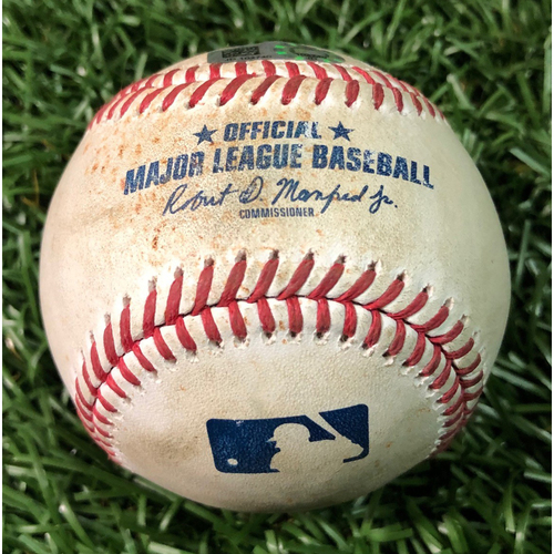 Photo of Game Used Baseball: Bryan Holaday single off Trevor Richards - August 26, 2020 v BAL