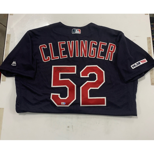 Photo of Mike Clevinger Autographed Alternate Navy Jersey