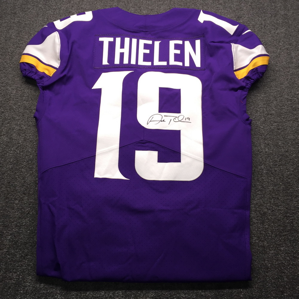 Crucial Catch - Vikings Adam Thielen Signed and Game Issued Jersey (October 14th