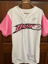 Photo of #16 Jeremy Erben signed pink Dash Jersey