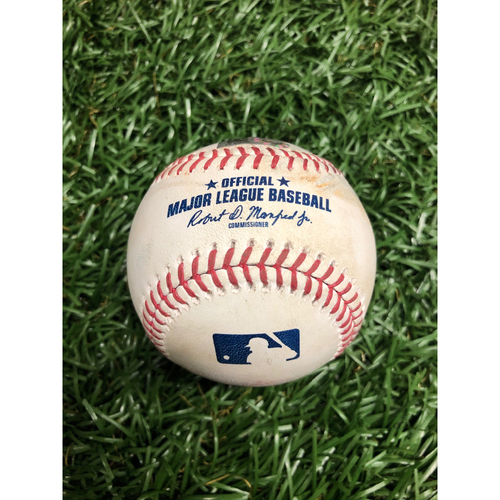 Photo of Spring Training Game Used Baseball: Wander Franco foul ball off Tucker Davidson - Bottom 6 - February 28, 2021 v ATL