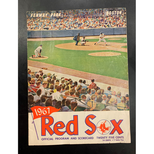 Photo of 1967 Red Sox Official Program and Scorecard