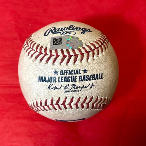 Photo of Game-Used Baseball - David Peralta Triple vs. Chase De Jong - Pirates @ D-backs 7/19/2021