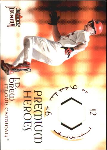 Photo of 2001 Fleer Premium Heroes Game Jersey #2 J.D. Drew