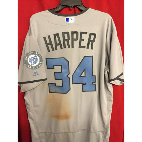 3117dfd07 Game-Used Father s Day Jersey  Bryce Harper