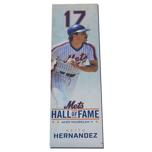Photo of Keith Hernandez - Citi Field Mets HOF Banner - 2017 Season