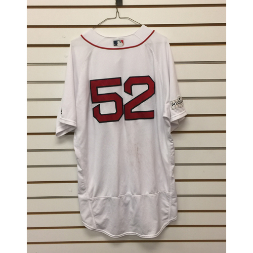 Photo of Eduardo Rodriguez Game-Used October 8, 2017 ALDS Game 3 Home Jersey