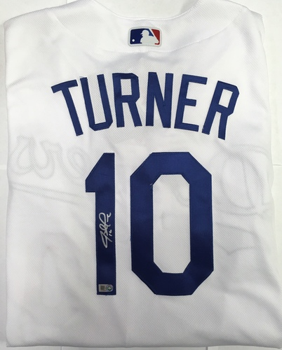 Photo of Justin Turner Autographed Authentic Dodgers Jersey
