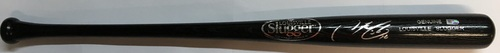 Photo of Francisco Lindor Autographed Black Louisville Slugger Bat