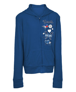 Toronto Blue Jays Youth Excl Brushed Sweater Knit Zip Hoody by New Era