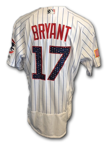 Photo of Kris Bryant Stars and Stripes Team-Issued Jersey