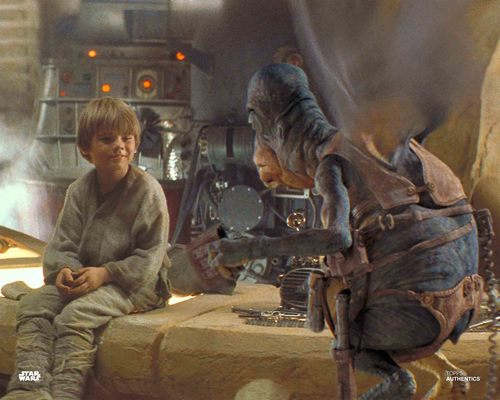 Anakin Skywalker and Watto