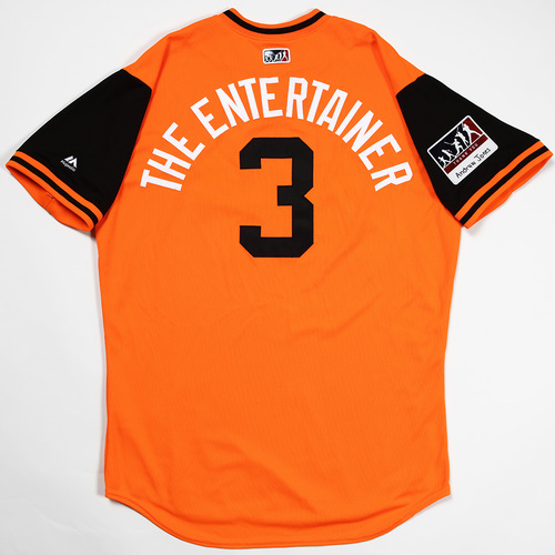 "Photo of Cedric ""The Entertainer"" Mullins Baltimore Orioles Game-Used 2018 Players' Weekend Jersey"